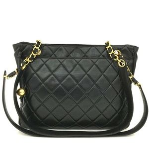 Auth Chanel Quilted Matelasse Lambskin #1004C62